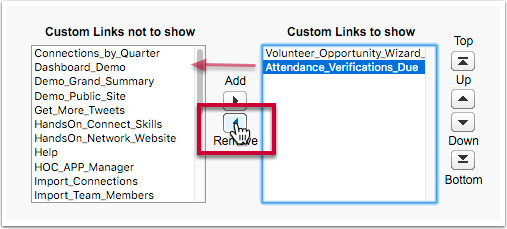"If your link to 'report attendance"" is in a component with more than one link...."