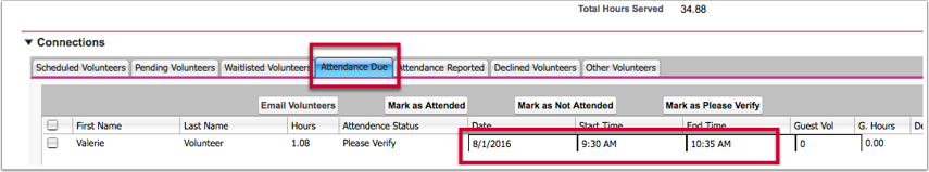 Improvement:  Behavior of Connections in Connection Grid and Attendance Due tab (HOC-595)