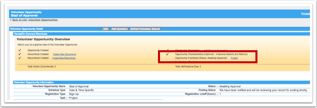"""When auto-approve is active for a partner organization - the """"publish"""" option is visible to them"""