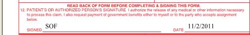 Patient or Authorized Signature