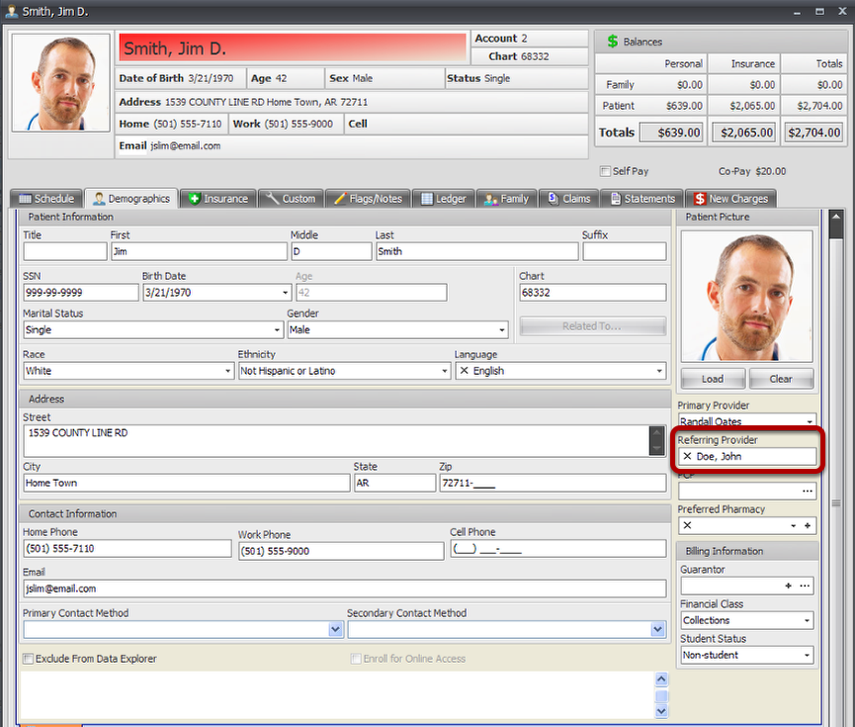 Defaulting Referring Provider and NOT having to select per claim