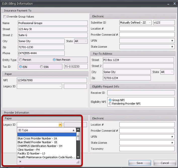 Determine the Qualifier for the Rendering Provider ID (for Legacy ID).