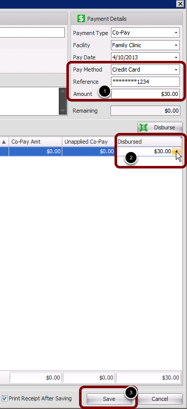 4. Type Pay Method and payment Amount