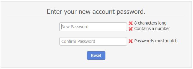 - Set New Account Password
