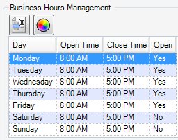 i. Business Hours Management