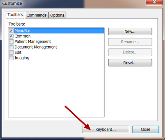 Select the Commands Window