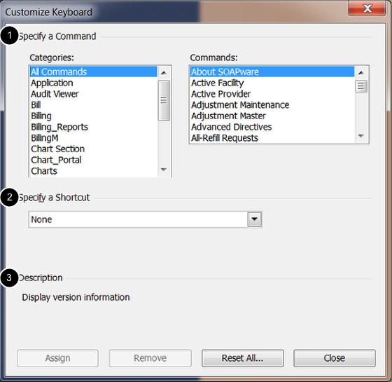 Customize Keyboard Window