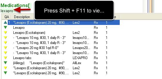 Conducting the Shift + F11 Search