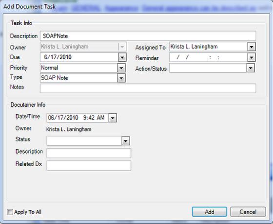 Add Document Task