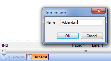 Rename the Addendum