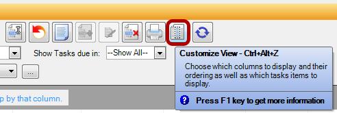 Customize Tasks View