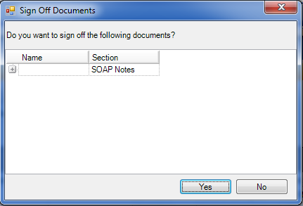 Sign Off Documents