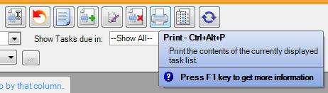 Click the Print Button