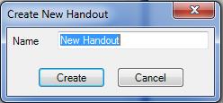 Create New Handout