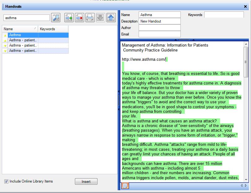 Editing Handouts