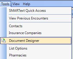 Open Document Designer