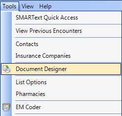 Using Document Designer