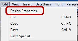 Document Design Properties