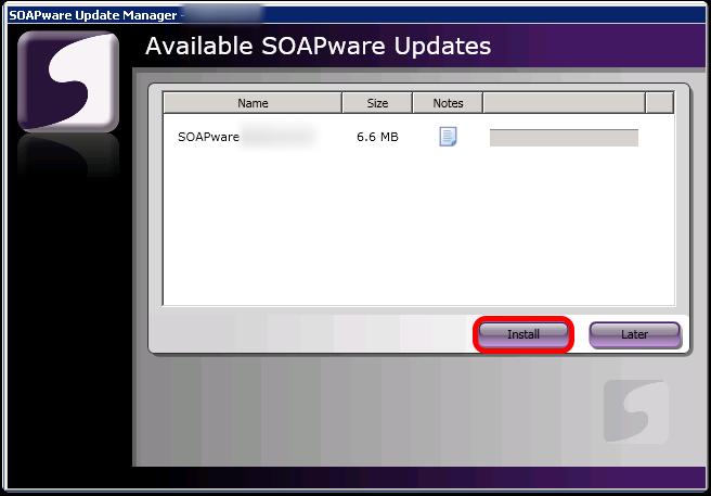 Install the SOAPware Update