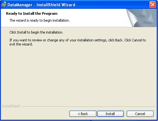 Ready to Install - Click Next
