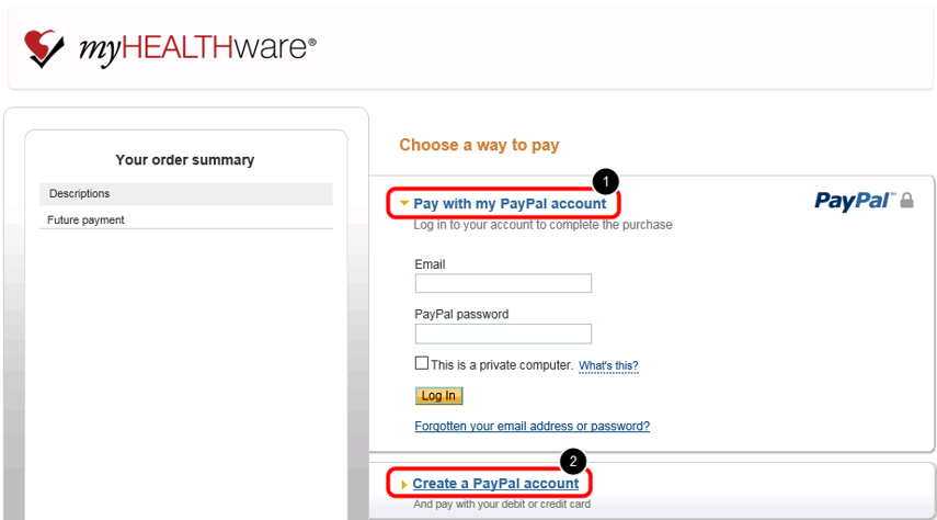 - Create PayPal Account (or Log In to Existing PayPal Account)
