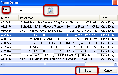 Place Order Dialog