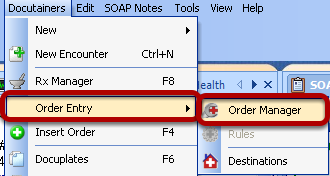 Placing an Order in Order Manager