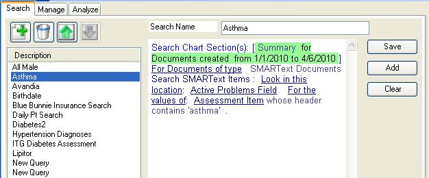 Data Explorer Searches