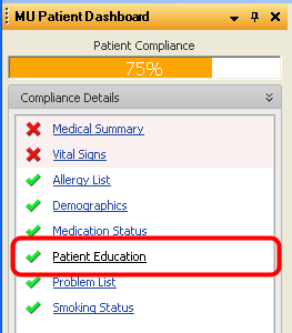 MU Patient Dashboard
