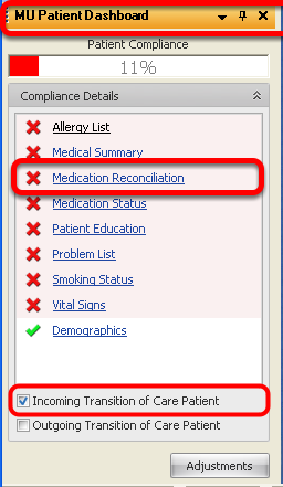 Tracking Medication Reconciliation