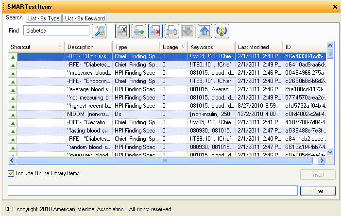 2011/2012 SMARText Items Manager
