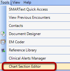 Tools - Chart Section Editor