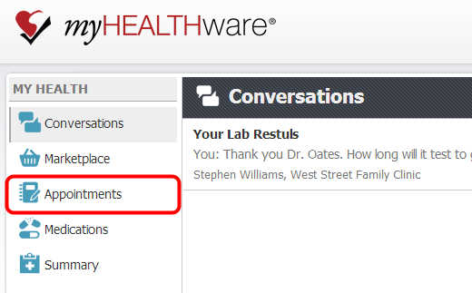 1. Open the Appointments Tab