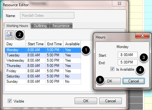 Set Working Hours for the Provider