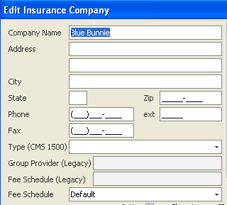 Adding/Editing Insurance Company Demographics