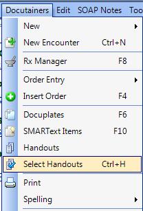 Select Handouts using Ctrl + H