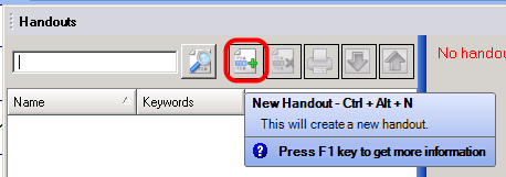 Create a New Handout