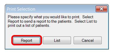 Print Patient Report