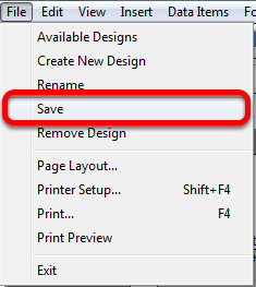 Saving a Document Design