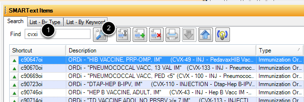 Search for Immunization Orders