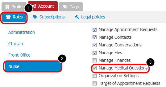 3. Manage Roles to Grant Permissions to Manage Medical Questions