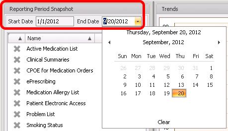 Reporting Period Snapshot Date