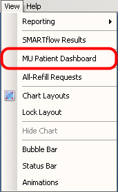 Opening the MU Patient Dashboard