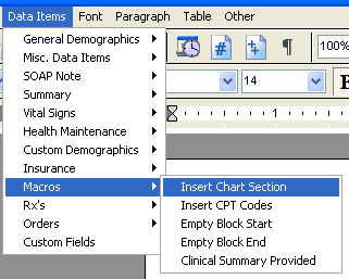 Document Designer Commands: Insert Chart Section