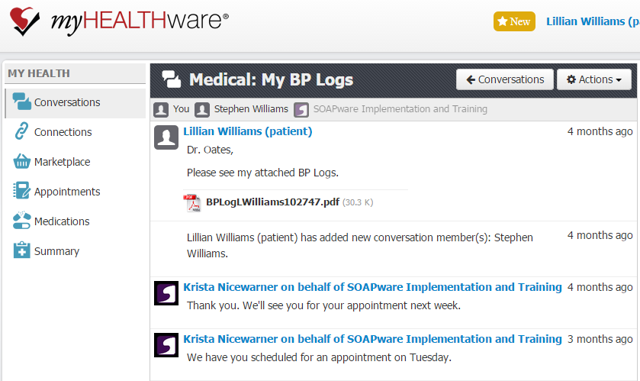 Quick and Secure Messaging with Your Medical Team