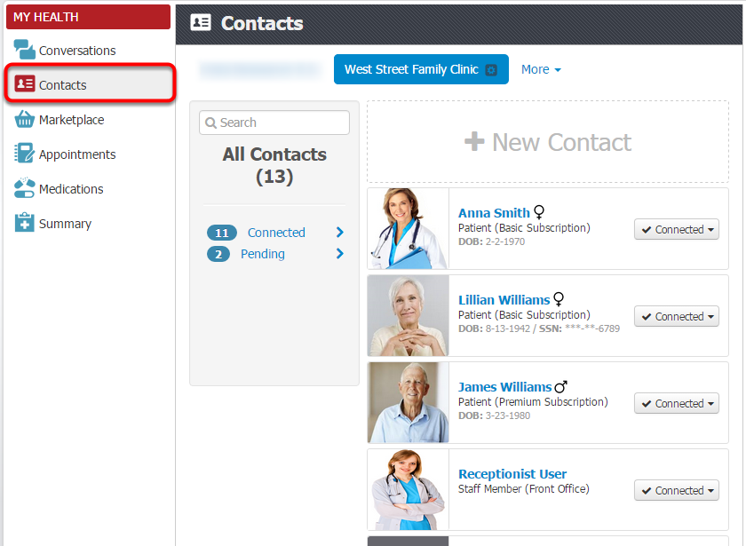 About myHEALTHware Contacts