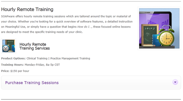 1.  Purchase Hourly EMR Training Session(s)- Minimum of 3 Hours Recommended
