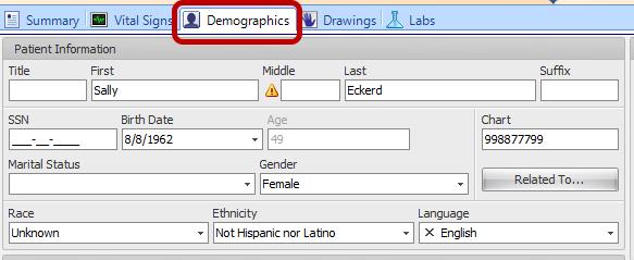 1. Record Demographics