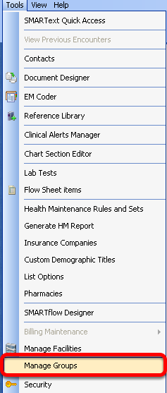 Access Manage Groups