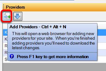 Adding a Provider